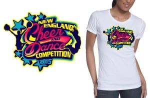 2015 New England Cheer and Dance Competition best tshirt logo design 4
