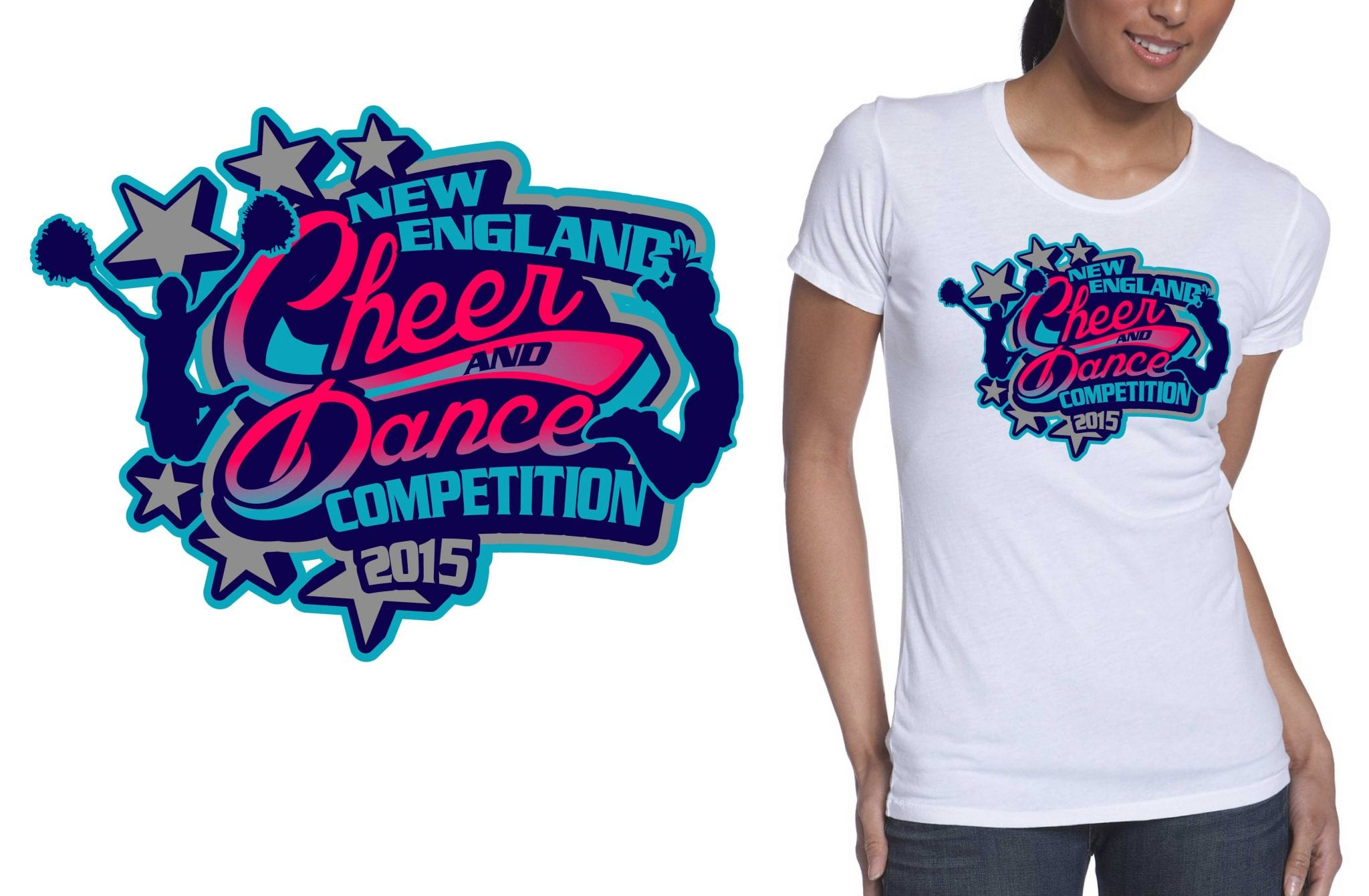 2015 New England Cheer and Dance Competition best tshirt logo design