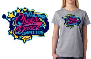 2015 New England Cheer and Dance Competition best tshirt logo design 2