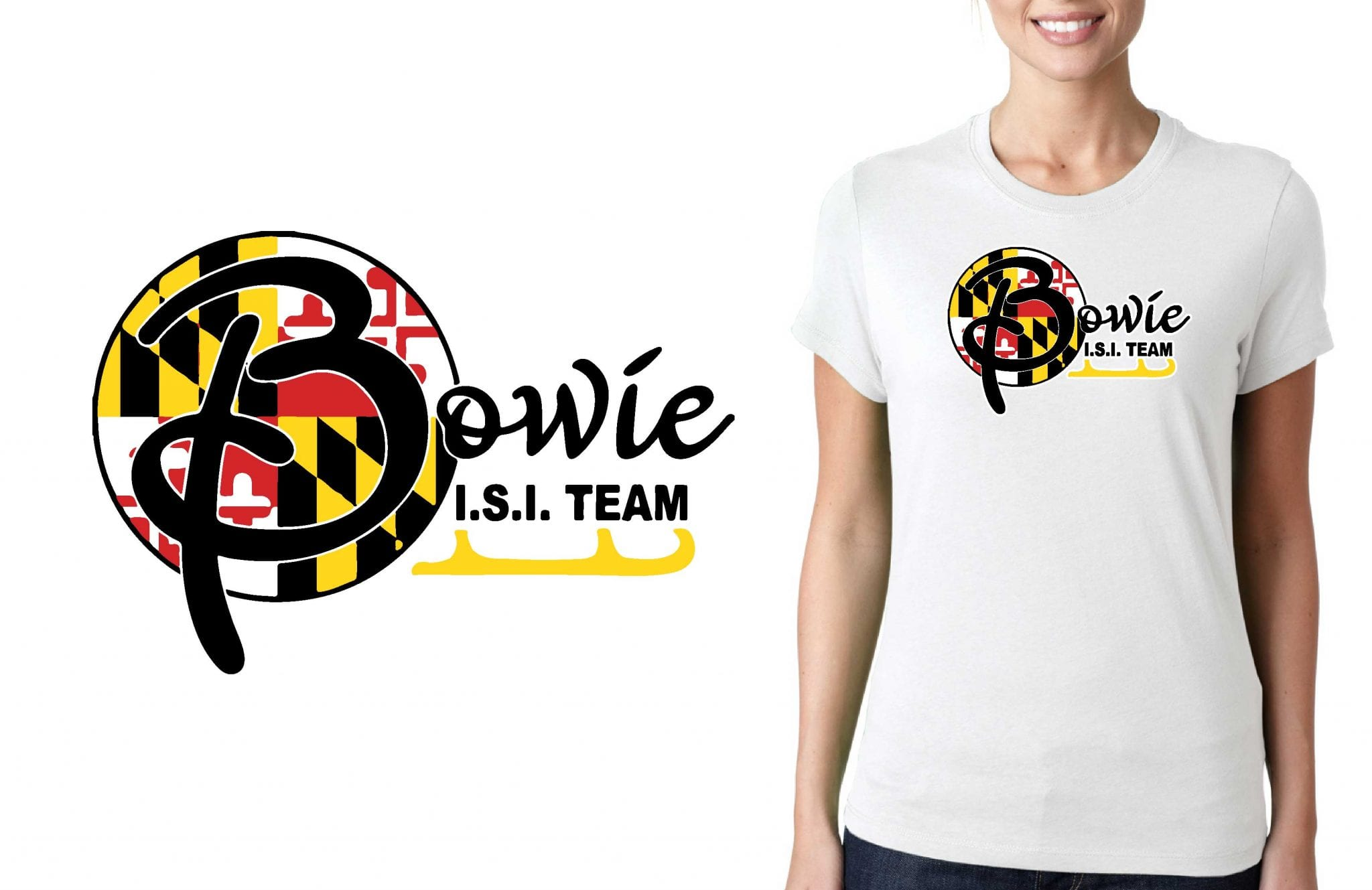 FIGURE SKATING T SHIRT LOGO DESIGN Bowie-Ice-Arenas-Valentines-Invitational BY UrArtStudio