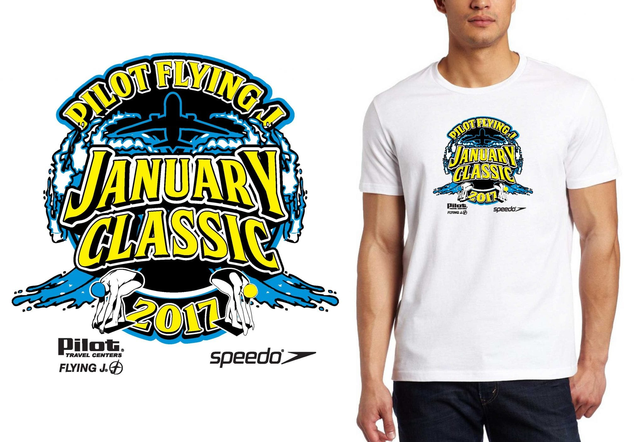 1 13 15 2017 Pilot Flying J January Classic t-shirt vector logo design for swimming urartstudio.com