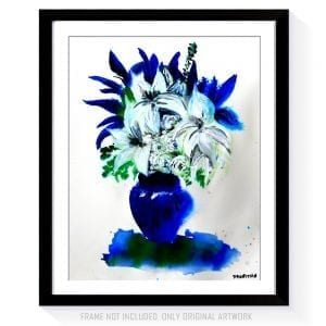 Beautiful in Blue STILL LIFE ACRYLIC PAINTING DRANITSIN