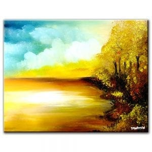 Etymology abstract landscape painting