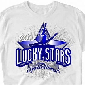 LUCKY STAR GYMNASTICS INVITATIONAL, vector logo design download