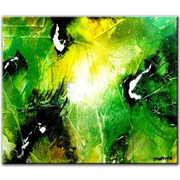 WHISPER OF SPRING, abstract painting