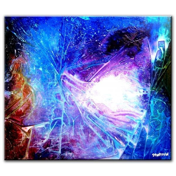 YOUNG NIGHT, ABSTRACT PAINTING
