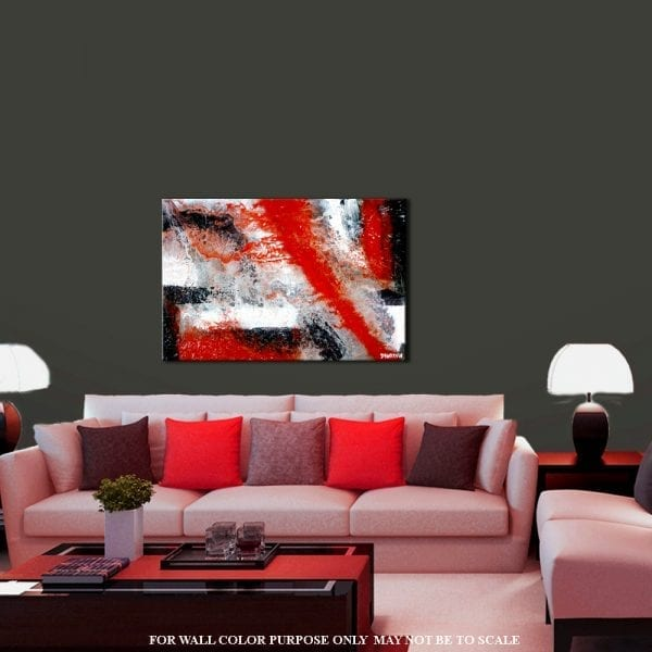ZERO GRAVITY, abstract painting, red