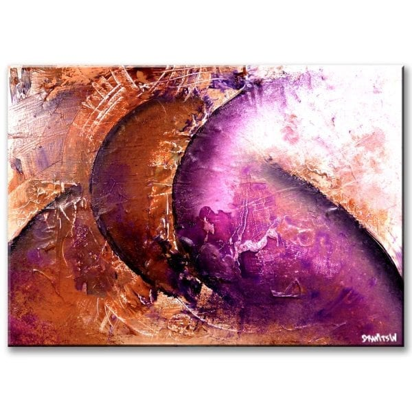 TWO MOONS, abstract painting