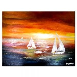 WINDFINDER, seascape abstract painting