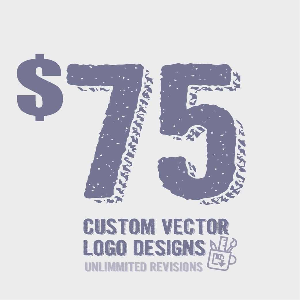 75 custom vector logo designs with unlimited revisions