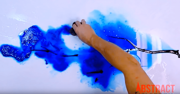 Painting blue tree in one minute