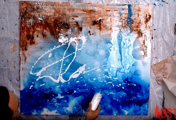 Simple painting idea and technique using water