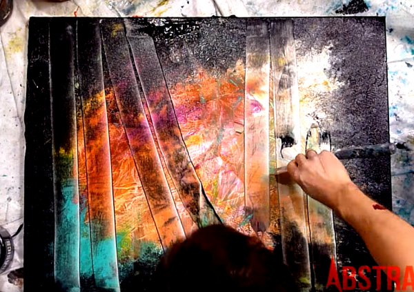 Step by step abstract painting for beginner, light, shadow, depth - PART I