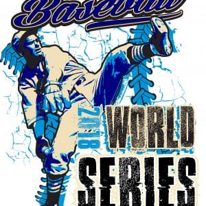 BASEBALL WORLD SERIES 2018 t-shirt vector logo design for print