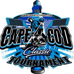 HOCKEY CAPE COD CLASSIC TOURNAMENT 2019 T-shirt vector logo design for print