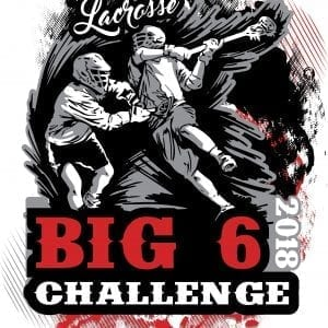 LACROSSE-BIG-6-CHALLENGE-2018-T-shirt-vector-logo-design-for-print-1
