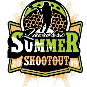 LACROSSE SUMMER SHOOTOUT 2019 T-shirt vector logo design for print