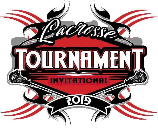LACROSSE TOURNAMENT 2019 T-shirt vector logo design for print