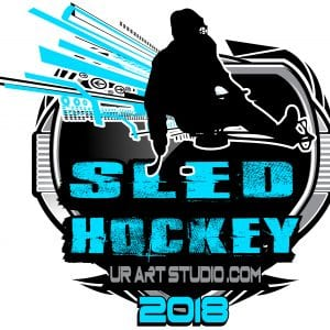 SLED HOCKEY 2018 T-shirt vector logo design for print