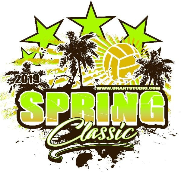 VOLLEYBALL SPRINT CLASSIC 2019 T-shirt vector logo design for print
