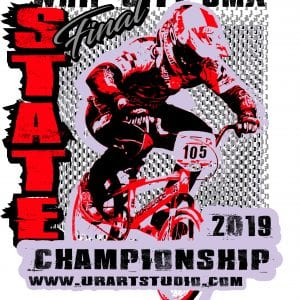 WHIP CITY BMX STATE CHAMPIONSHIP FINAL 2019 T-shirt vector logo design for print