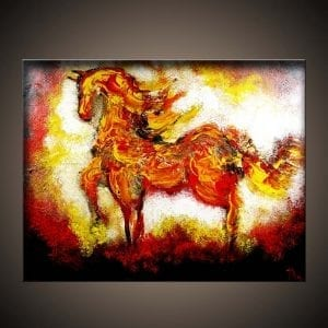 Burning Desire ABSTRACT HORSE PAINTING