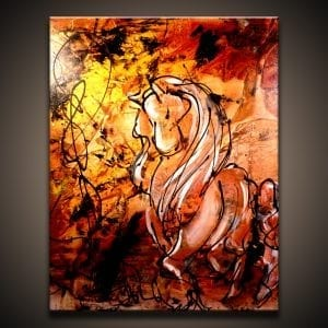 Elegance Comes Natural ABSTRACT HORSE PAINTING