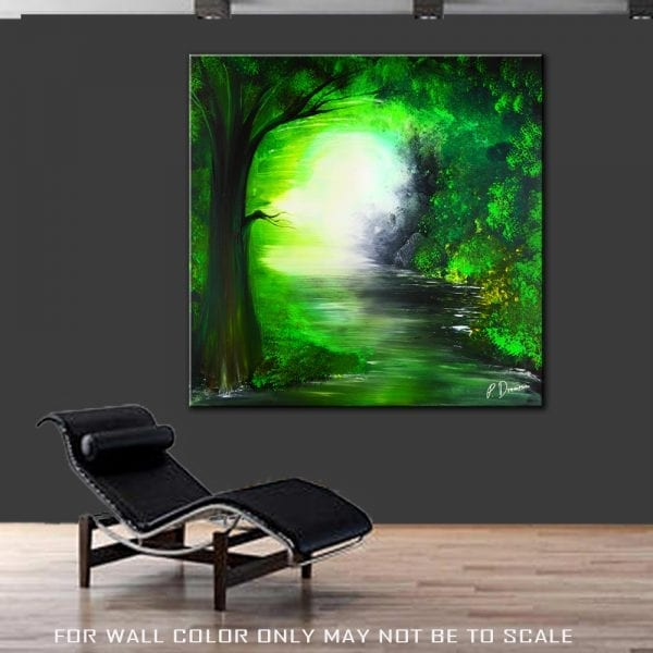 SILENT TREE, abstract painting