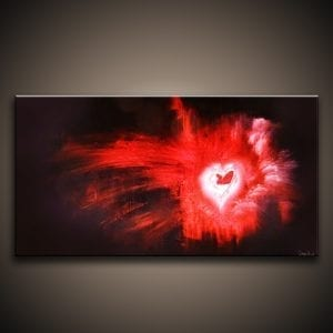 Alive heart abstract painting by Peter Dranitsin