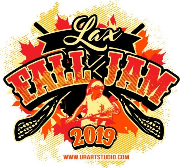 Lax Fall Jam Lacrosse customizable T-shirt vector logo design for print 2019