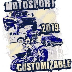 MOTOSPORT customizable T-shirt vector logo design for print 2019
