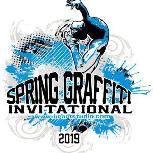 SPRING GRAFFITI INVITATIONAL customizable T-shirt vector logo design for print 2019