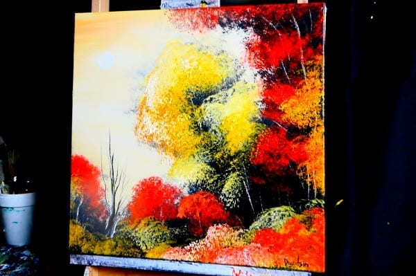 AUTUMN - step by step acrylic landscape painting by Dranitsin