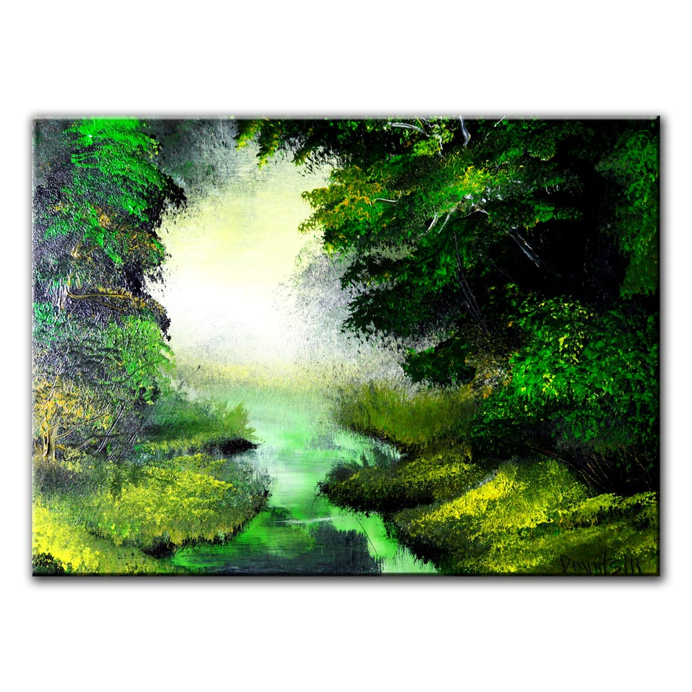DEEP IN THE FOREST, original painting by Dranitsin