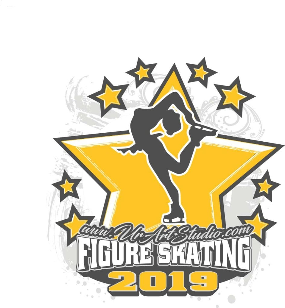FIGURE SKATING ADJUSTABLE LOGO DESIGN 001
