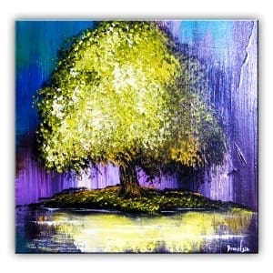 GOLDEN TREE, ABSTRACT PAINTING, DRANITSIN