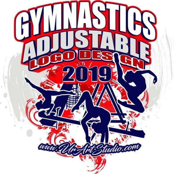 GYMNASTICS ADJUSTABLE LOGO DESIGN EPS, AI, PDF