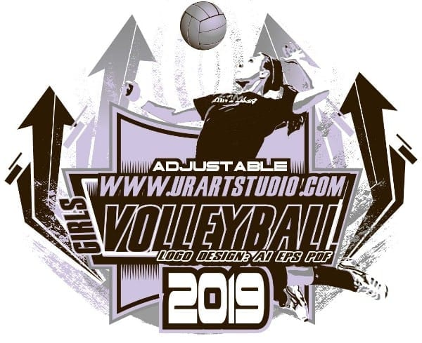VOLLEYBALL ADJUSTABLE LOGO DESIGN EPS, AI, PDF 008