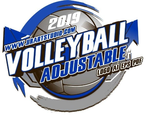 VOLLEYBALL ADJUSTABLE LOGO DESIGN EPS, AI, PDF 009