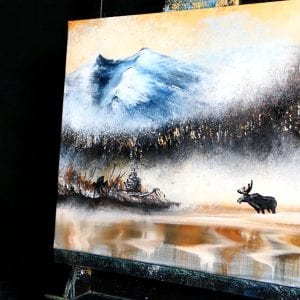 MOOSE-IN-THE-FOG-ACRYLIC-PAINTING-TECHNIQUES-DRANITSIN2
