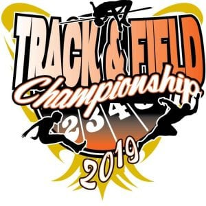 Track and Field adjustable vector logo design for print - EPS, PDF, AI 003
