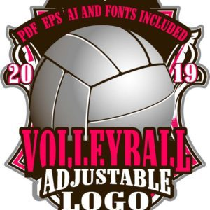 VOLLEYBALL ADJUSTABLE LOGO DESIGN EPS, AI, PDF 010