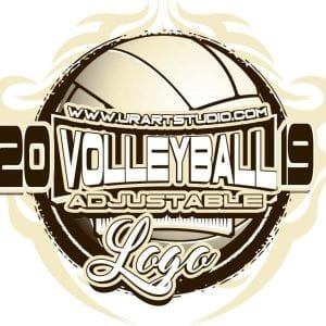 VOLLEYBALL ADJUSTABLE LOGO DESIGN EPS, AI, PDF 011