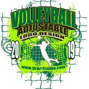 VOLLEYBALL ADJUSTABLE LOGO DESIGN EPS, AI, PDF 013