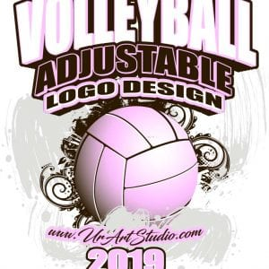 VOLLEYBALL ADJUSTABLE LOGO DESIGN EPS, AI, PDF 014