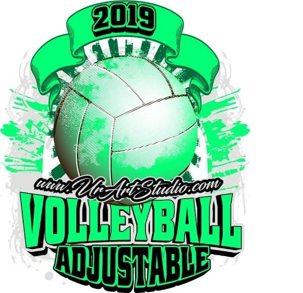VOLLEYBALL ADJUSTABLE LOGO DESIGN EPS, AI, PDF 015
