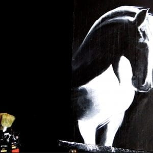 WHITE HORSE | 1 COLOR PAINTING TECHNIQUES | ACRYLICS | DRANITSIN