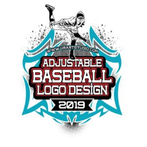 BASEBALL ADJUSTABLE VECTOR LOGO DESIGN FOR PRINT - AI, EPS, PDF, PSD, 504