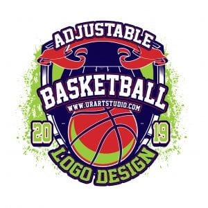 BASKETBALL ADJUSTABLE VECTOR LOGO DESIGN FOR PRINT AI EPS PDF PSD 501