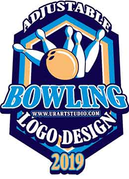 BOWLING ADJUSTABLE VECTOR LOGO DESIGN FOR PRINT AI EPS PDF PSD 504